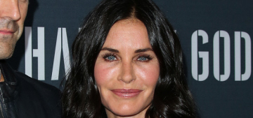 Did Courteney Cox recently overdo it with fillers & Botox?  Probably.