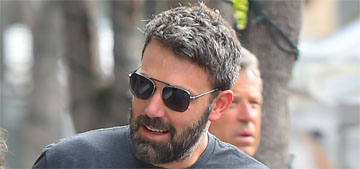 Ben Affleck takes his kids to the farmer's market with their nanny