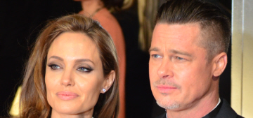 Angelina Jolie & Brad are house-hunting in London & balking at the prices