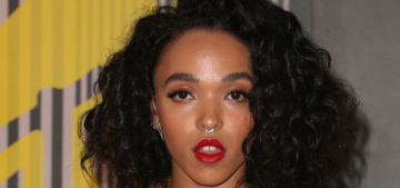 FKA Twigs in Atelier Versace at the 2015 VMAs: lovely or too lingerie-y?