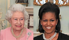 Royal Scandal: The Queen embraced Michelle Obama first
