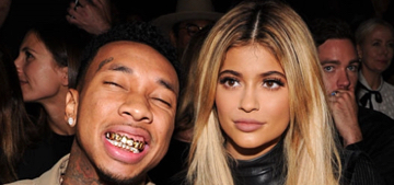 Kylie Jenner looked like a statue & Tyga flashed his grills at NYFW