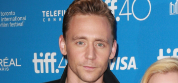 Tom Hiddleston wears cable-knit sweater at TIFF, talks about 'vibrating'