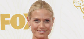 Heidi Klum in Versace at the Emmys: Big Bird fug, the worst look of the night?