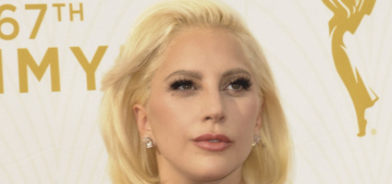 Lady Gaga in structural Brandon Maxwell at the Emmys: surprisingly amazing?