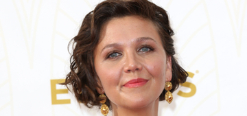 Maggie Gyllenhaal in Oscar de la Renta at the Emmys: silly or lovely?