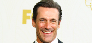 Jon Hamm thanked his dog & his ex-girlfriend, in that order, at the Emmys