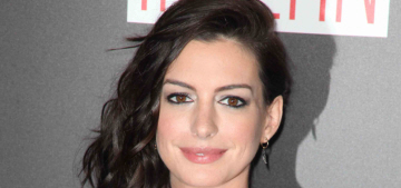 Anne Hathaway in peacocky Rodarte at 'The Intern' premiere: pretty or blah?