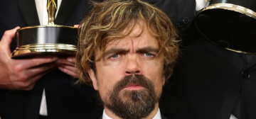 Did Peter Dinklage spit his gum into his wife's mouth at the Emmys?