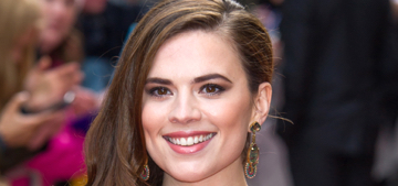 Hayley Atwell blocked a 'creepy' fan on her birthday for calling her 'mom'