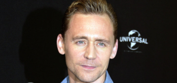 Tom Hiddleston wears a light denim shirt at Berlin photocall: would you hit it?