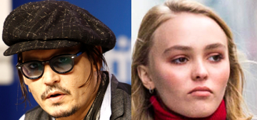 Johnny Depp is 'quite worried' about Lily Rose's fast-moving modelling career