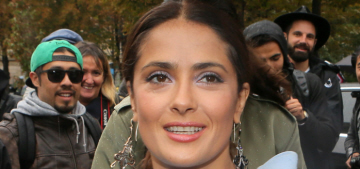 """Salma Hayek's Giambattista Valli dress was seriously not cute"" links"