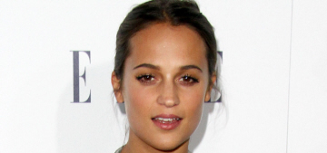 Alicia Vikander in Louis Vuitton at Elle 'Women' event: adorable or boring?