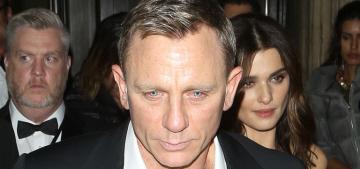 Rachel Weisz didn't walk the 'Spectre' carpet but still got a James Bond kiss