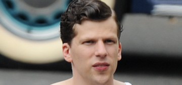 Star: Jesse Eisenberg mocked a film crew member's 'minimum wage job'