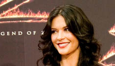 Catherine Zeta-Jones Gets Caviar Hair Treatments