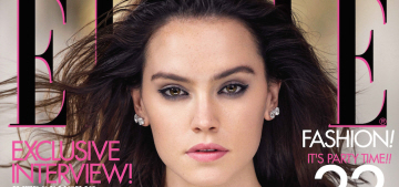 Daisy Ridley covers Elle, refuses to give details on 'Star Wars: The Force Awakens'