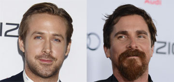 Ryan Gosling vs. a ginger-bearded Christian Bale: who would you rather?