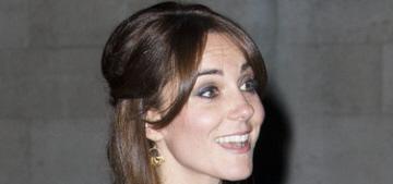 Duchess Kate wears Saloni & sausage curls in London: tragic or fine?
