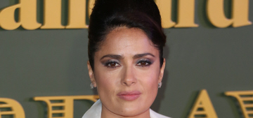 Salma Hayek wore a revealing McQueen to the ES Theatre Awards: tacky or fine?