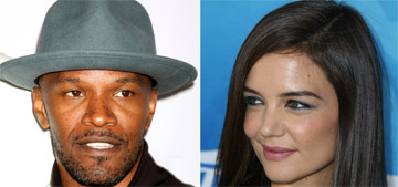 Jamie Foxx and Katie Holmes pretend they are just friends for his birthday