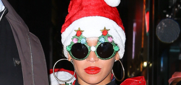 Beyonce dressed up like a Christmas tree for her office holiday party: amazing?