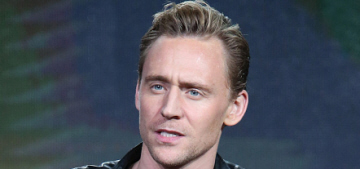 Tom Hiddleston wore leather in Pasadena for the TCA Press Tour: yummy?