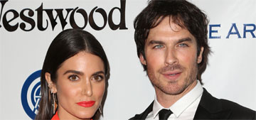 Nikki Reed in cutout Solace London at the Art of Elysium gala: wrong season?