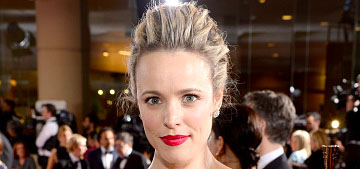 Rachel McAdams in floral Lanvin at the Golden Globes: 80s wallpaper or pretty?