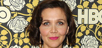 Maggie Gyllenhaal in Marc Jacobs at the Globes: blending into the background?