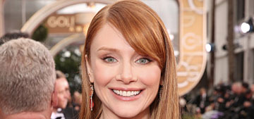 Bryce Dallas Howard in Jenny Packham at the Globes: sequin lace fug or daring?