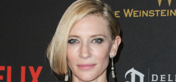 Cate Blanchett in Givenchy at the Golden Globes: Old West saloon lampshade?