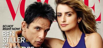 Derek Zoolander & Penelope Cruz cover Vogue: Le Tigre Realness?