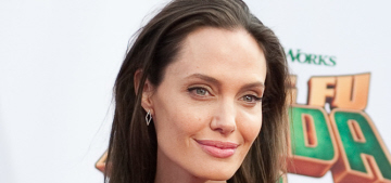 Angelina Jolie in Saint Laurent at the 'Kung Fu Panda 3′ premiere: simple & chic?