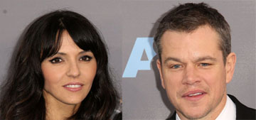 Matt Damon & Luciana, in Naeem Khan at the Critics' Choice: striking or showgirl?