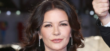 Catherine Zeta Jones in Elie Saab at London premiere: ageless or tweaked?