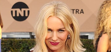 Naomi Watts in blue and black Burberry at the SAGs: lovely or too conservative?