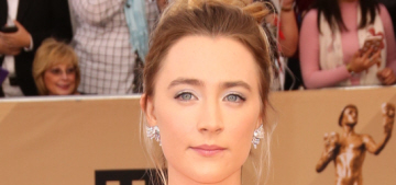 Saoirse Ronan in pink lace Michael Kors at the SAGs: matronly, twee or both?
