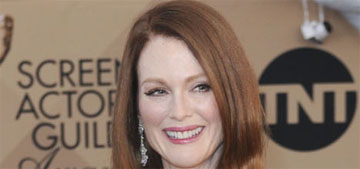 Julianne Moore in sequin green Givenchy at the SAGs: tin foil fug or striking?