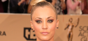 Kaley Cuoco in Romona Keveza at the SAGs: annoying & poorly styled?