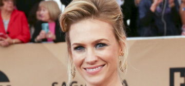 January Jones in Schiaparelli at the SAGs: does her stylist hate her?