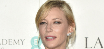 Cate Blanchett in Chanel at the Lancome pre-BAFTA party: dowdy or cute?