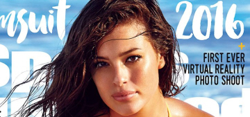 Ashley Graham is the first plus-sized model to cover SI's Swimsuit Edition: yay?