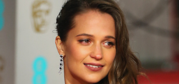 Alicia Vikander in custom Louis Vuitton at the BAFTAs: stunning or unflattering?