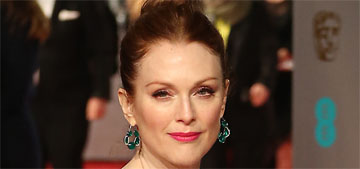 Julianne Moore in white Armani at the BAFTAs: stunning or plain?