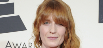 Florence Welch in candy-pink Gucci at the Grammys: when boho goes bad?