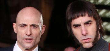 Mark Strong v. Sacha Baron Cohen at their premiere: who would you rather?