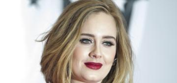 Adele in deep red Giambattista Valli at the BRIT Awards: stunning or blah?