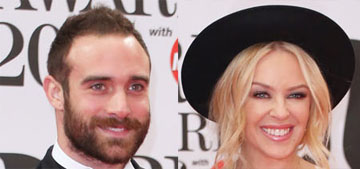 Was Kylie Minogue's 28 year-old fiance married when she met him?